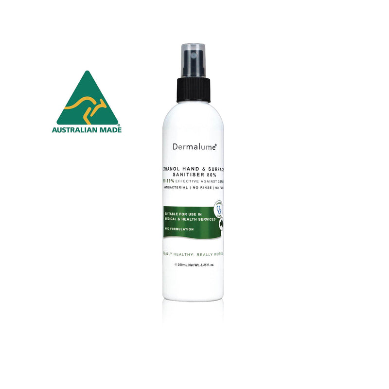 Ethanol Hand & Surface Sanitiser Spray 80% WHO Formulation