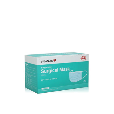 BYD Single-Use Level 3 Surgical Mask  50 Pack - Dermalume