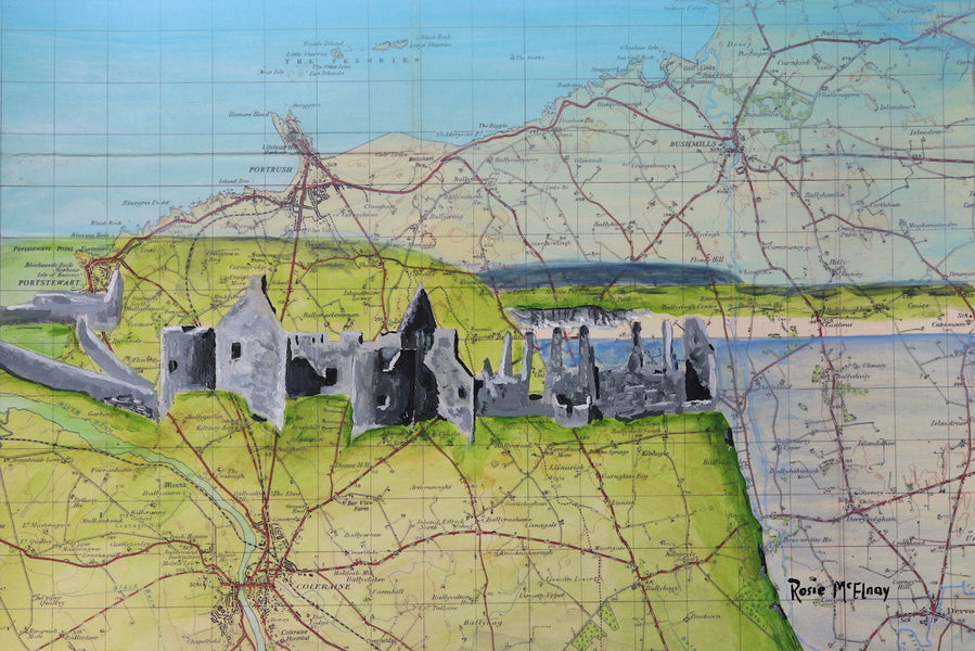 The Story Behind Dunluce Castle- Rosie's Easel Unlocked Landscapes