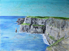 "Load image into Gallery viewer, The Cliffs of Moher 27"" x 20"" (70cm x 50cm)"