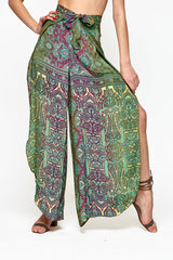 'New' Fearless Pant w/ Belt -UPCYCLED (assorted prints)
