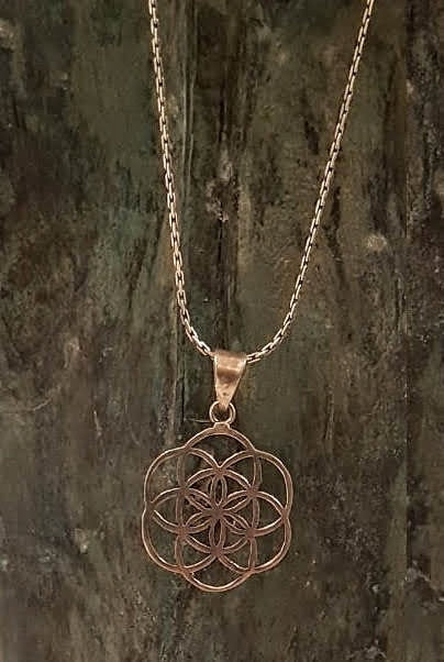 small brass light colored pendant