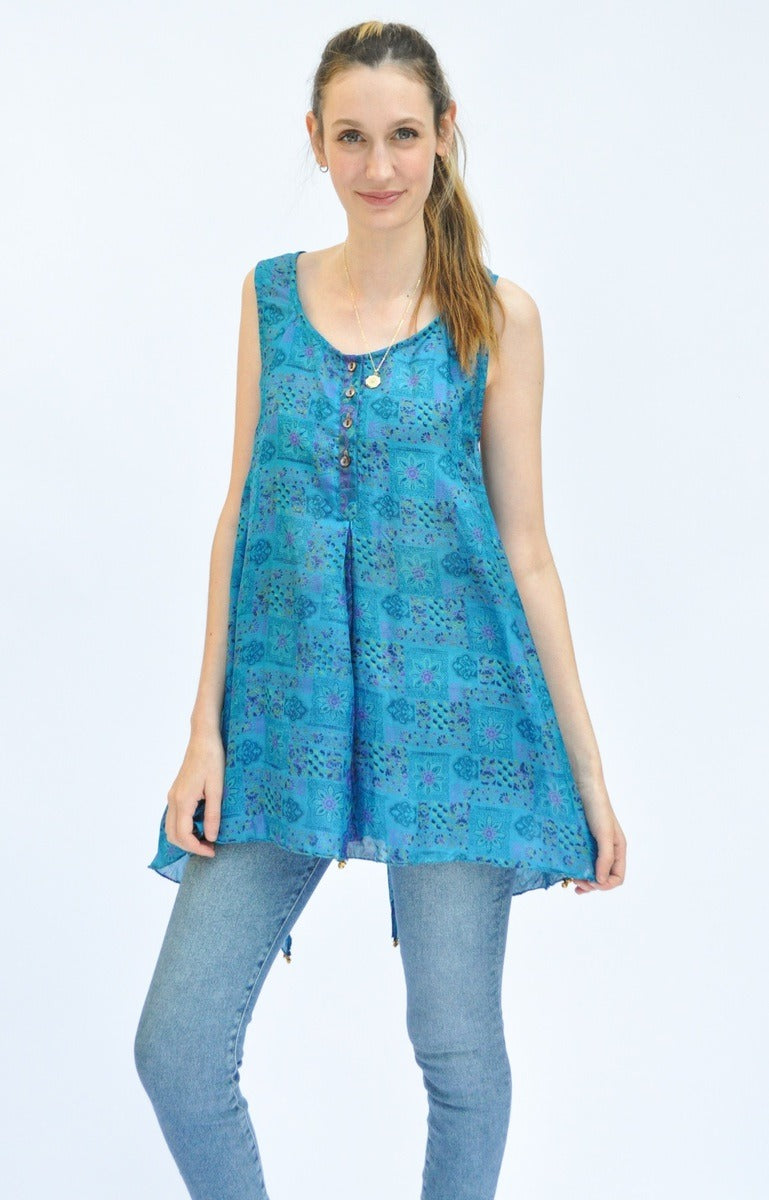 Heavenly Blue Top (assorted prints)