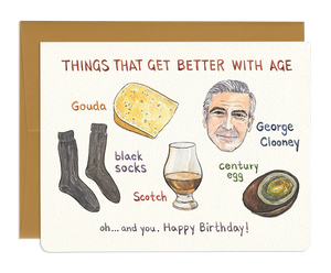 Things That Get Better With Age Card
