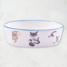 Load image into Gallery viewer, Bowl Eat Sleep Play Oval Cat Bowl