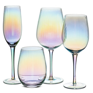"Lustre Optic Small Goblet 9""H 16oz"