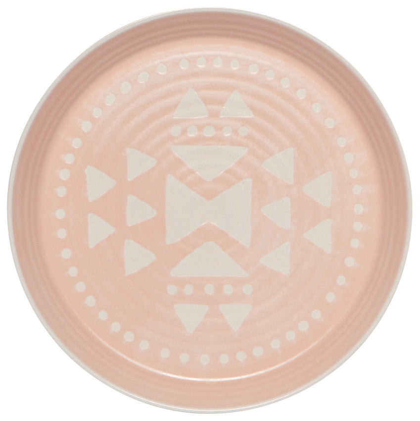 Pink Imprint Side Plate