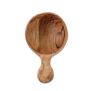 "Hand-Carved Teak Wood Spoon/Scoop 3""L"