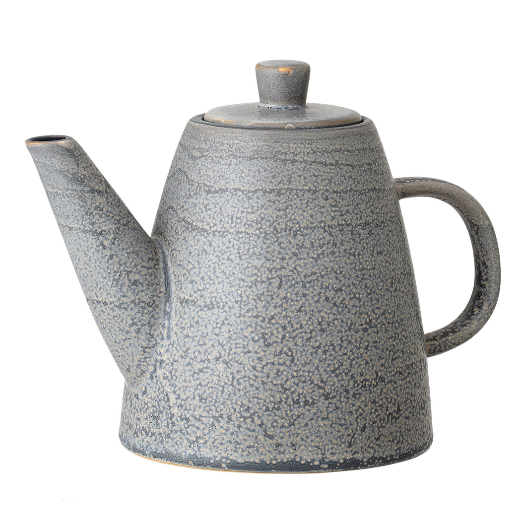 Reactive Glaze Matte Grey Teapot 34oz