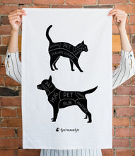 Load image into Gallery viewer, Cat & Dog Petting Tea Towel