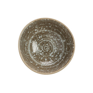 "Stoneware Footed Bowl, Speckled Glaze 4-1/2"" Rnd x 2""H"