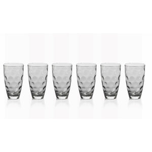 Dimple Highball Glass Smoke (Each sold separately)