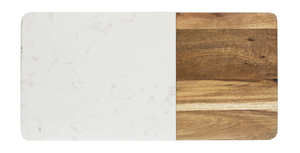 Cheeseboard Acacia and White Marble Medium