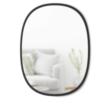 Load image into Gallery viewer, Hub Black Oval Mirror