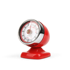 Vintage Streamline Kitchen Timer Red