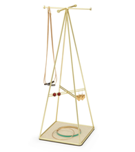 Load image into Gallery viewer, Prisma Jewelry Stand Mat Brass