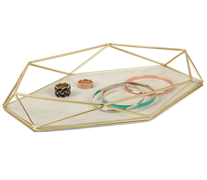 Prisma Jewelry Tray Mat Brass