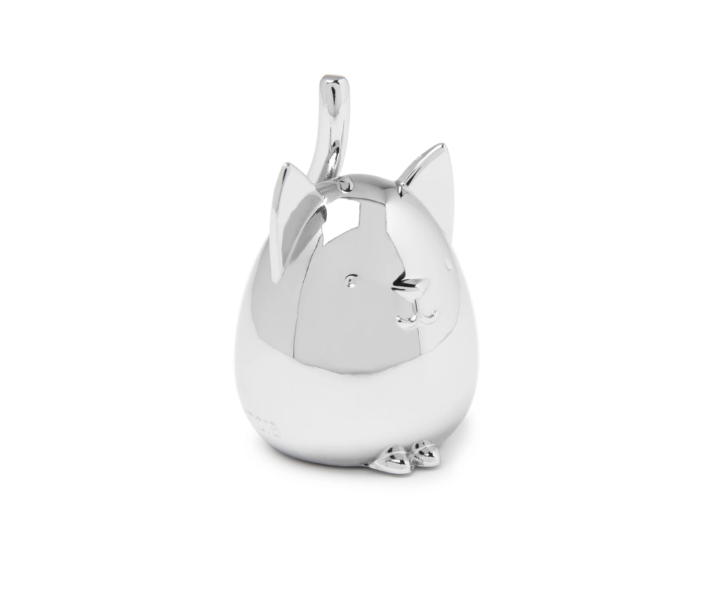 Squiggy Cat Chrome Ring Holder