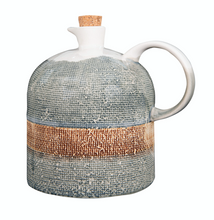 Load image into Gallery viewer, Ceramic Jug w/ Cork Stopper Small Blue Grey 24oz.