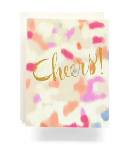 Abstract Cheers Card