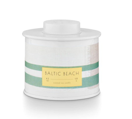 Fjord & Form Baltic Beach Marine Tin Candle