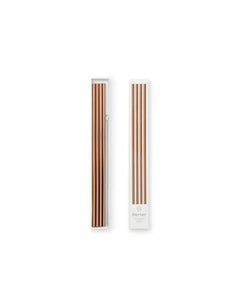 "10"" Copper Metal Straws With Cleaner - Set of 4"