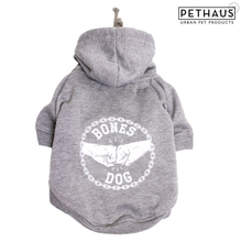 Load image into Gallery viewer, Bones Dog Xsmall Grey Marle Hoodie
