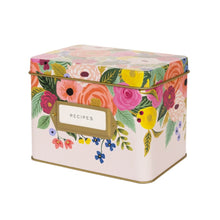 Load image into Gallery viewer, Recipe Tin Box Juliet Rose