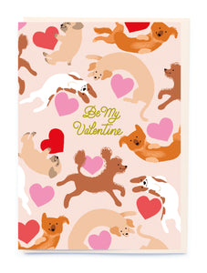Dogs Valentines Card