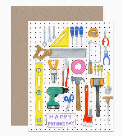 Tool Board Father's Day Card