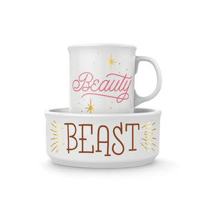 Ceramic Mug & Dog Bowl Beauty Beast