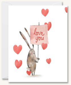 Rabbit Love Sign