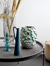 Load image into Gallery viewer, Green Metal Vase With Handle