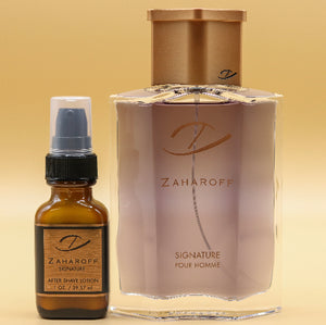 Zaharoff Signature 4.0 oz + Small After Shave Lotion Set