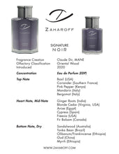 Load image into Gallery viewer, Zaharoff Signature DUO, NOIR and ROYALE EDP - 2 Pack