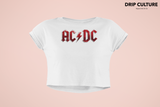AC DC Band Womens Crop Top
