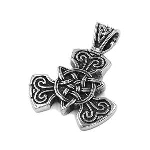 Celtic Triquetra Necklace Stainless Steel Trinity Knot Pendant
