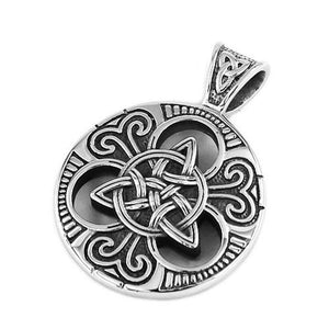 Celtic Warrior Shield Necklace Stainless Steel Ainle Laoch Pendant