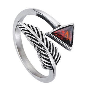 Arrow Ring Silver Stainless Steel Adjustable Archery Thumb Band