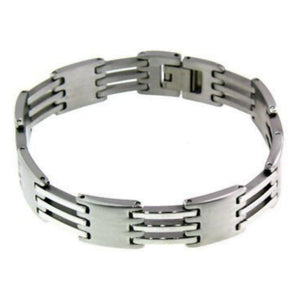Avalanche Hinge Link Men's Stainless Steel Bracelet Rocker Jewelry