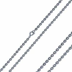 Cable Chain Necklace Silver Stainless Steel 3mm 15-22in