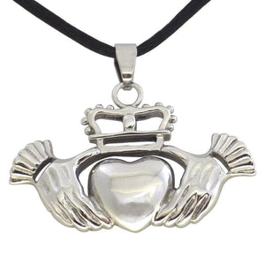 Celtic Claddagh Necklace Stainless Steel Pendant