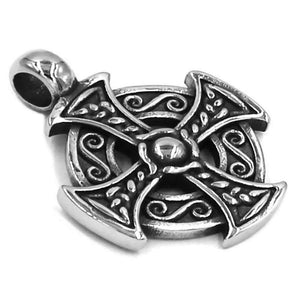 Celtic Cross Necklace Stainless Steel Cosplay Viking Pendant