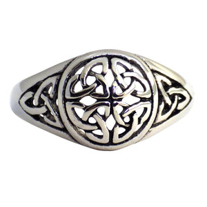 Celtic Triquetra Circle Trinity Knot Women's Ring | Stainless Steel Band