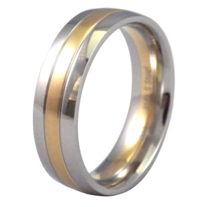 Gold and Silver Stainless Steel Ring
