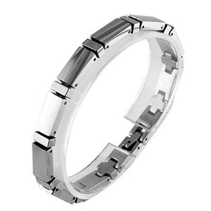 Classic Modern Style Tungsten Carbide Bracelet 7in