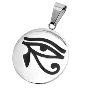 Eye of Horus Necklace Stainless Steel Wadjet Ra Pendant