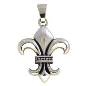 Fleur de Lis Necklace New Orleans Theme Stainless Steel Pendant