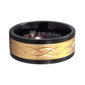 Gold Celtic Knot Stainless Steel Ring