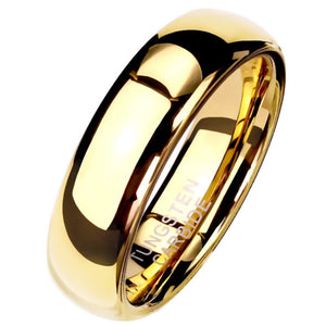 Gold Tungsten Ring 6mm Wedding Band Handfasting-1